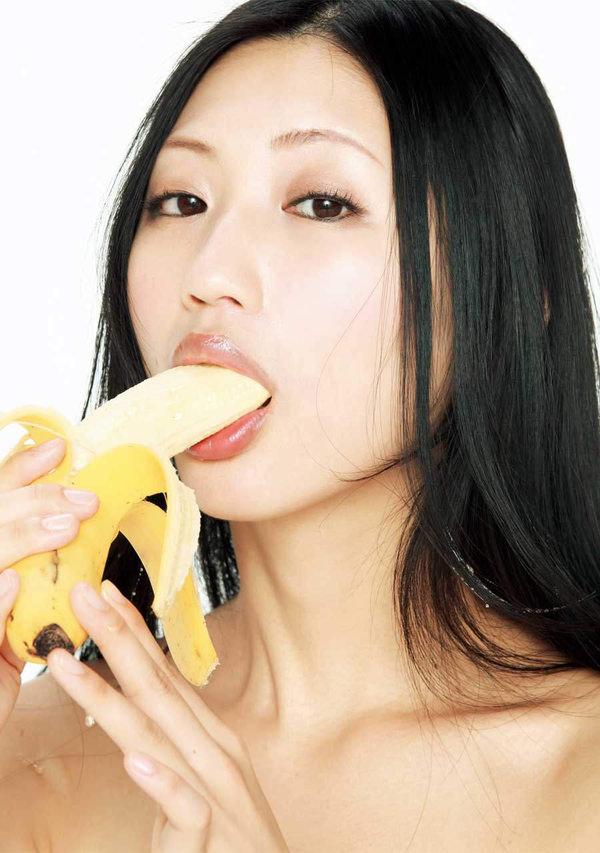 バナナで擬似フェラ 9