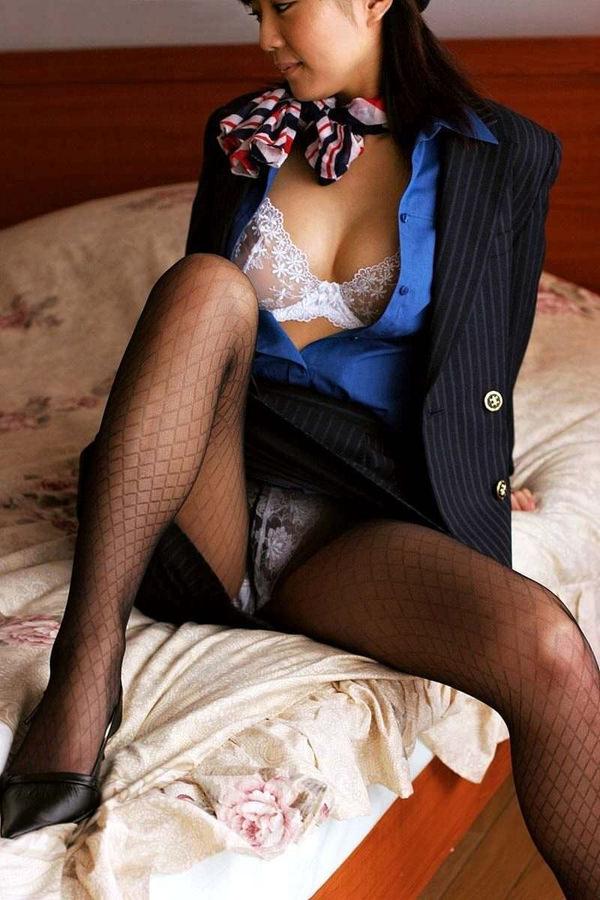 CAさんと制服着衣セックス 24