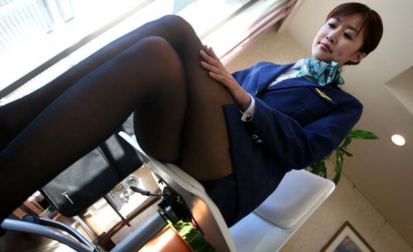 CAさんと制服着衣セックス 25