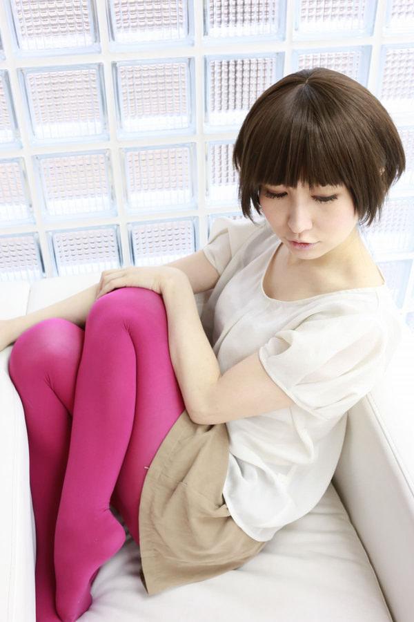 カラータイツを履いた女の子 9