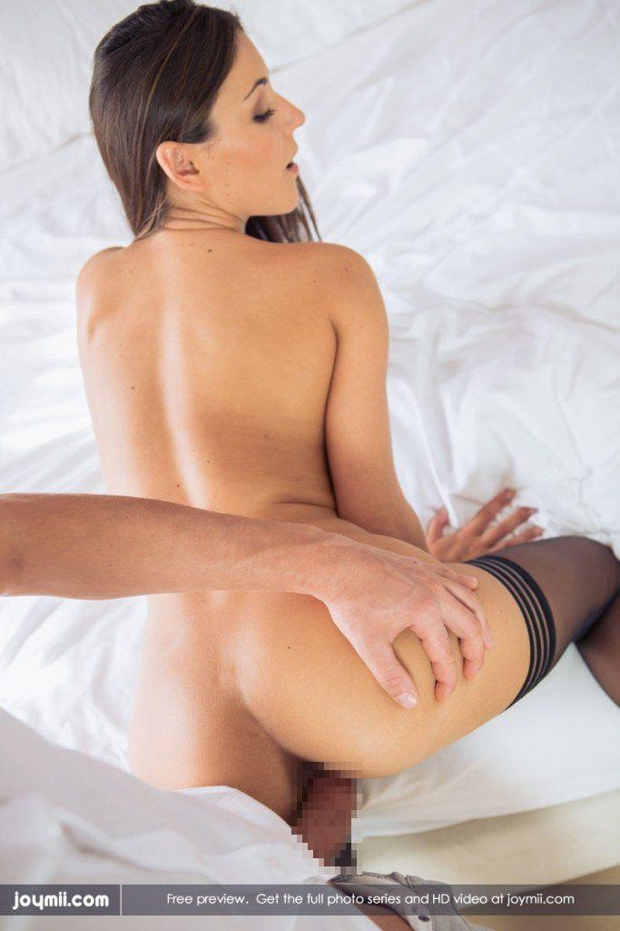外国人の後背位セックス 16