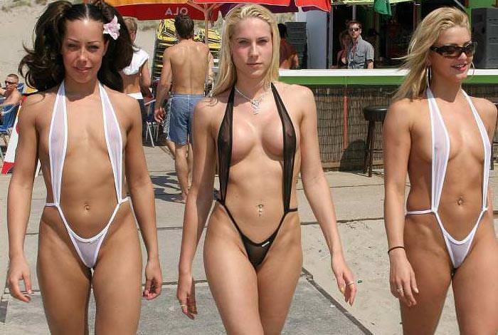 エロ水着の外国人美女 10