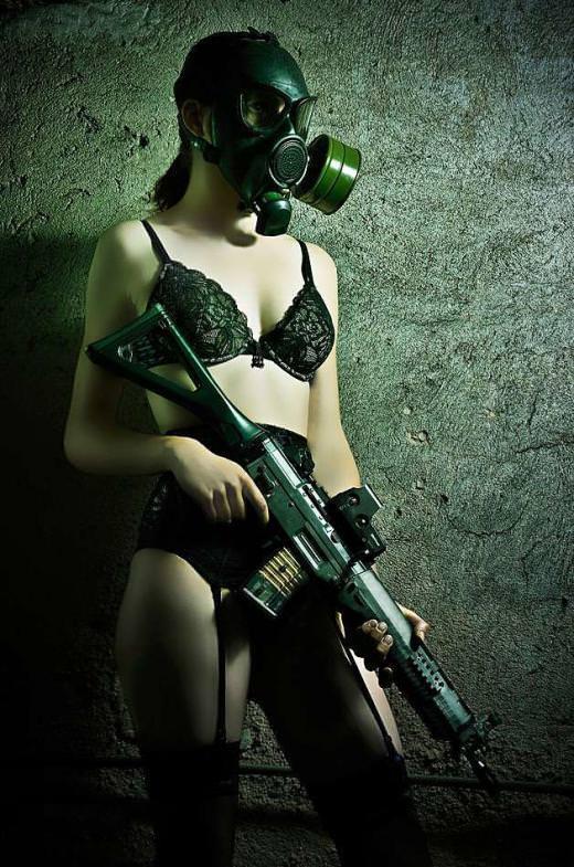 外国人美女の軍服姿 7