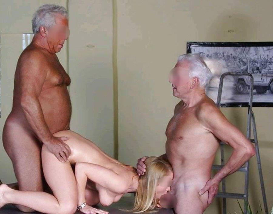 外国人美少女と老人のセックス 11