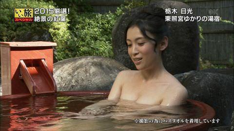 雛形あきこ、ひなパイ健在!おっぱいの谷間モロ出しの温泉入浴シーンwwwwwwwwww