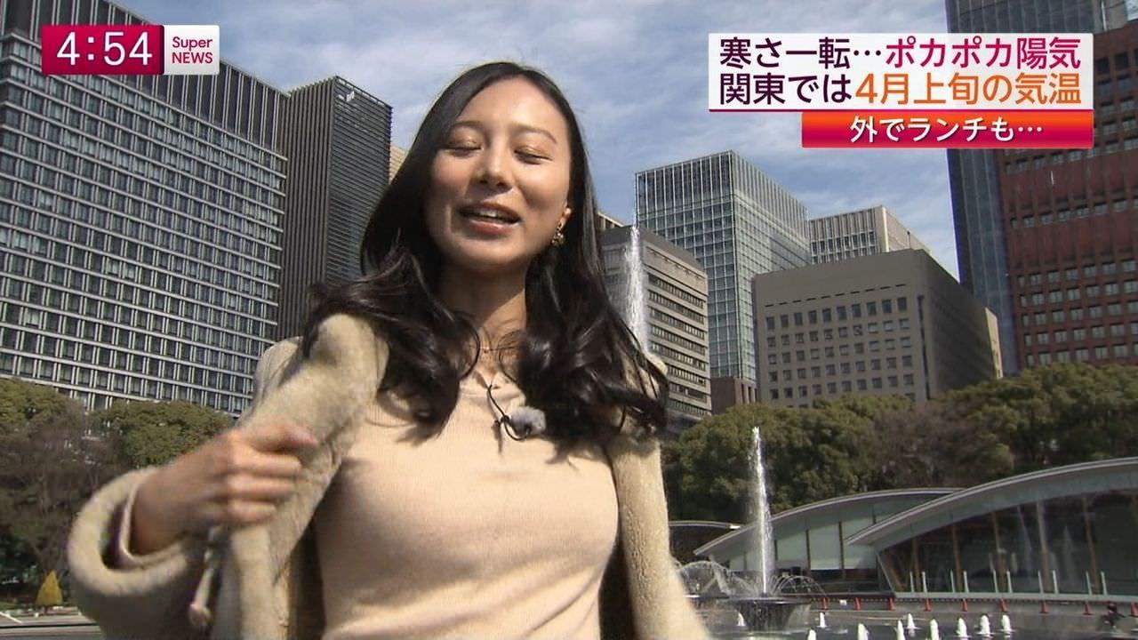 フジ細貝沙羅アナがコートを脱いだら意外に大きな胸が出現!!!