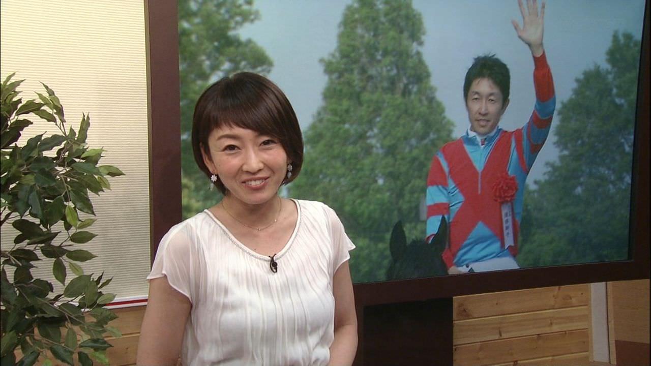 狩野恵里アナのインナーが透けててエロいことに
