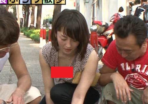 【画像あり】 狩野恵里アナ「もやさま」で乳首ギリギリ胸チラきたああああああああ!!