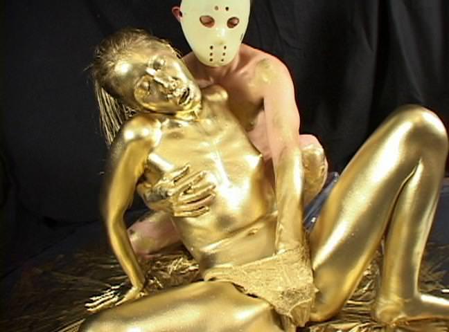 全身金粉のヌード 14