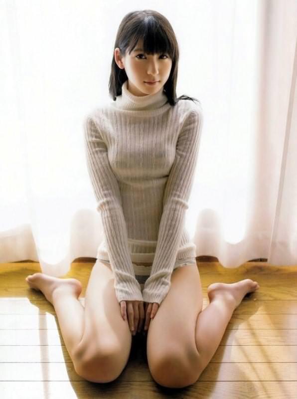 ニットの着衣巨乳 35