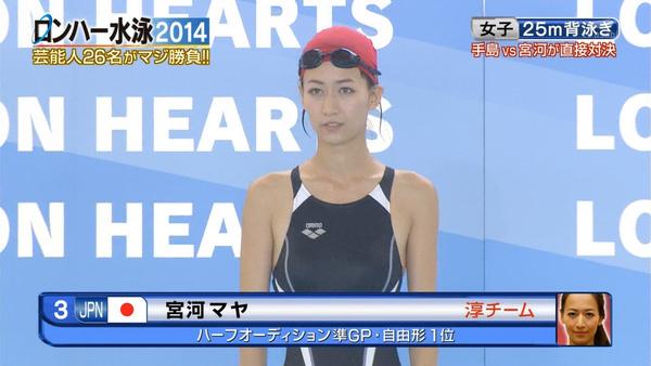 水泳キャップも被ってる競泳水着姿の女の子 27