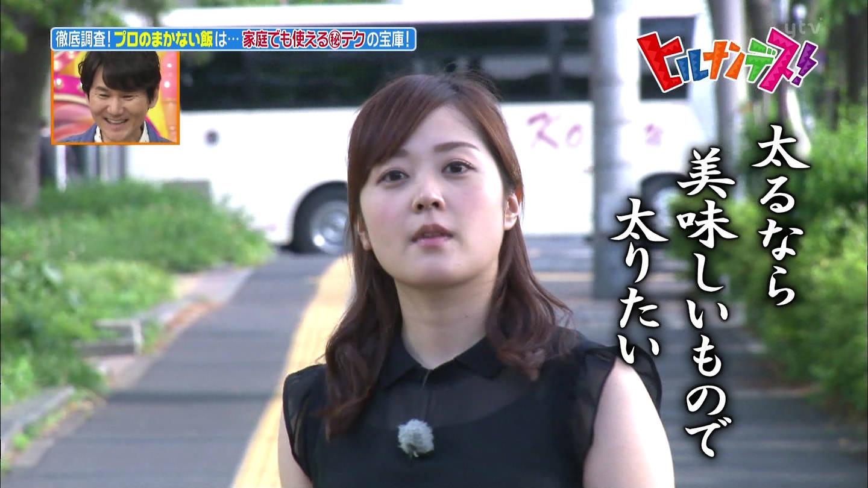 水卜麻美アナ 透け透けノースリーブ乳!