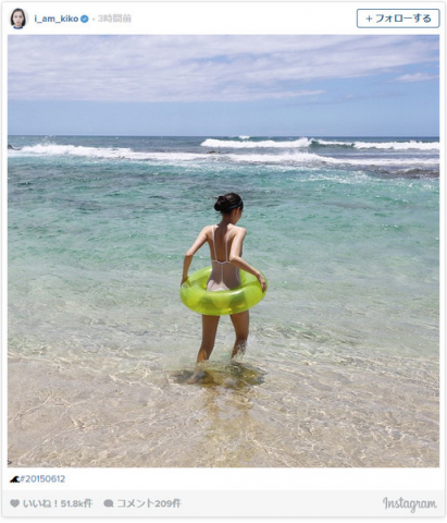 【画像あり】水原希子、遂にAV並みのスケスケ水着姿を公開!2ch「露出狂!」「この変態!」