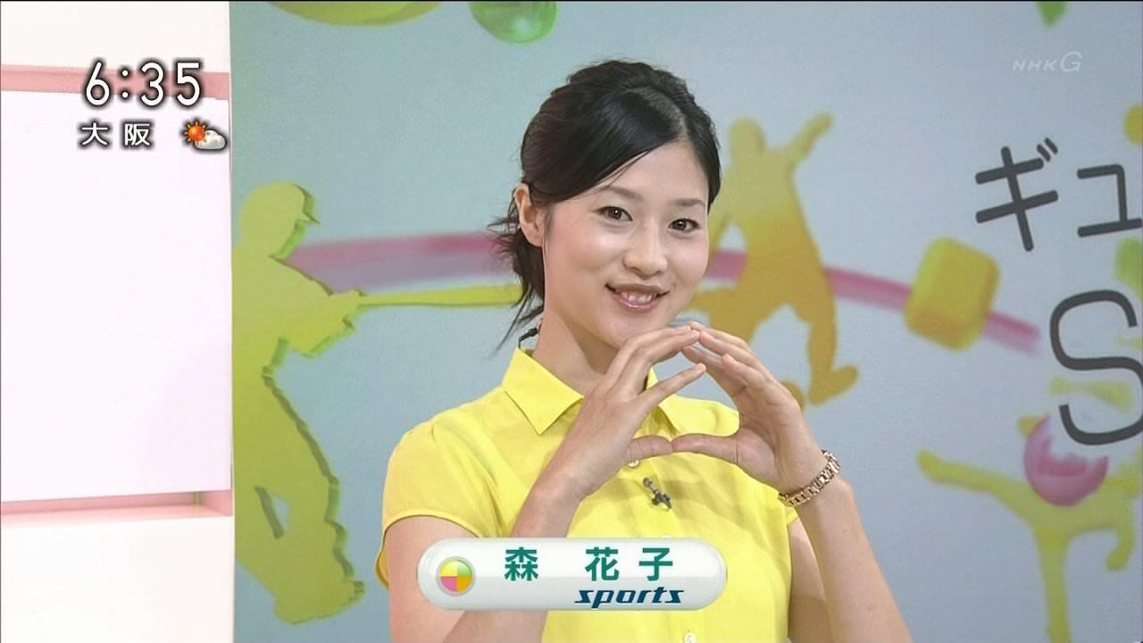 NHKで女子アナの服がスケスケ、ブラジャーも谷間も透けてるwwwwwwww (画像あり)