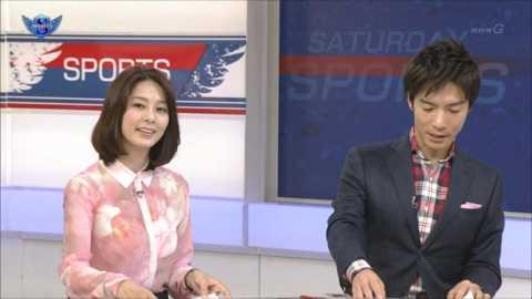 NHK杉浦友紀アナが爆乳にしか目がいかなくなる透け透け衣装で登場