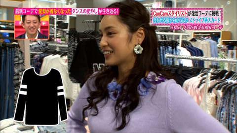 【衝撃画像】「ヒルナンデス」平愛梨(30)おっぱい浮き出ているwwwwwww