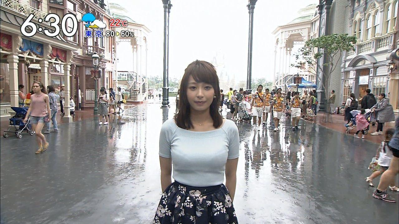 【※おっぱい注意】TBS宇垣美里アナ(24)が巨乳過ぎて朝からけしからんと話題にwwwwwwwwwwwww