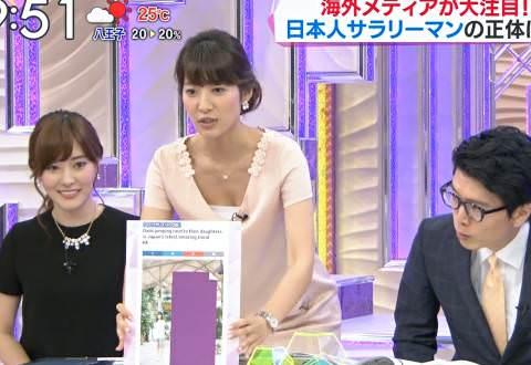 TBS吉田明世アナ、今日のビビットで胸元けっこう開いてるな(※胸チラ、パンチラ大量)