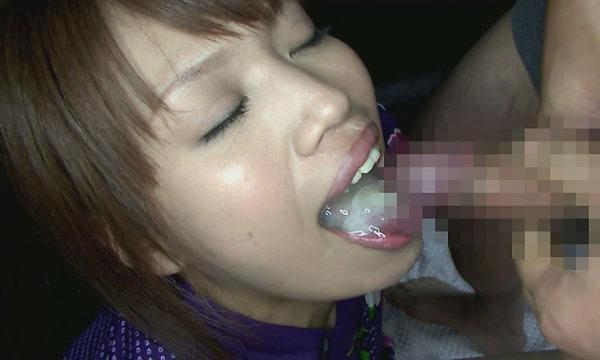 口内射精された素人 3