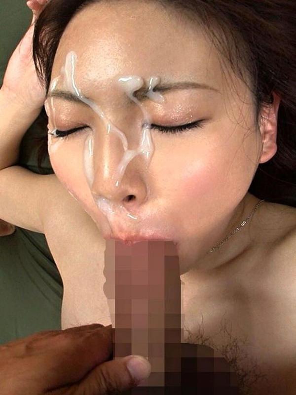 顔射の後にお掃除フェラ 5