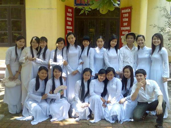 アオザイ姿のベトナム美女 11