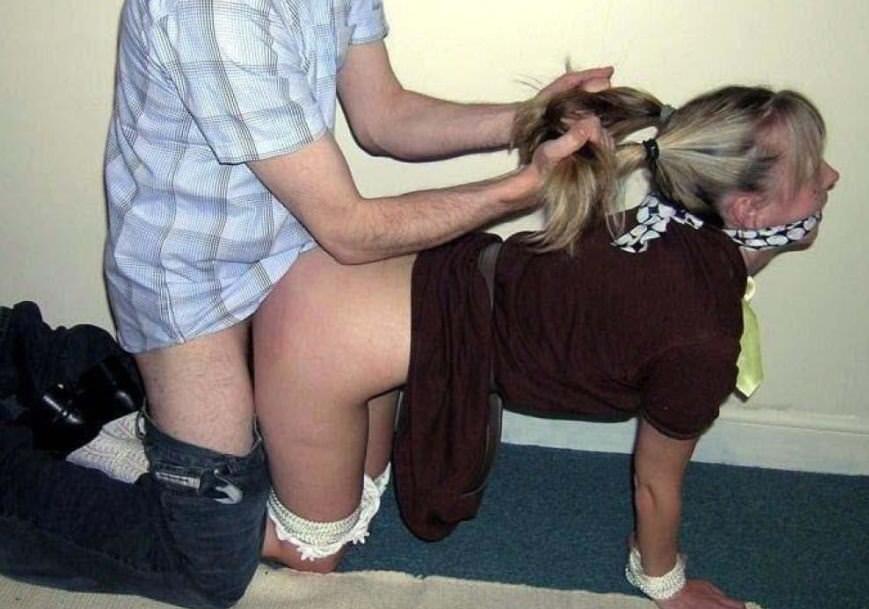 外国人が髪の毛掴んで激しいバック