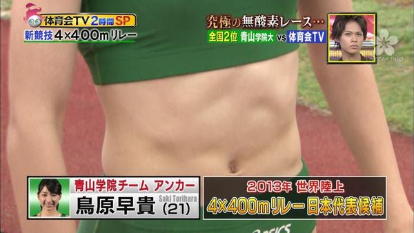腹筋が美しい女子陸上選手 5
