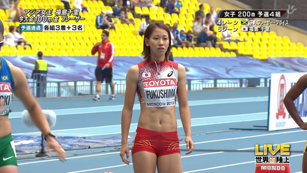 腹筋が美しい女子陸上選手 11