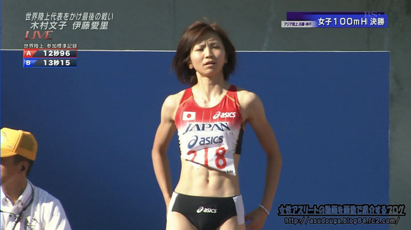 腹筋が美しい女子陸上選手 15