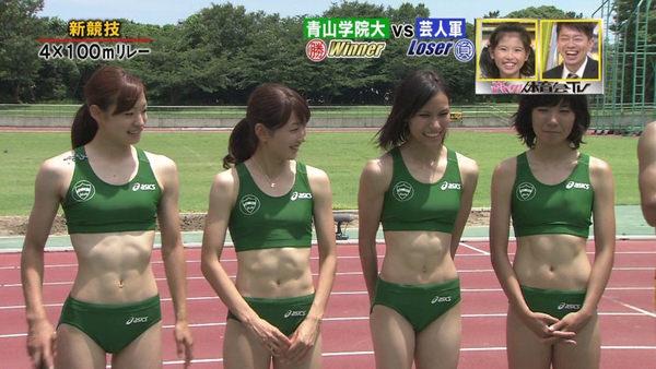 女子陸上選手の腹筋 17