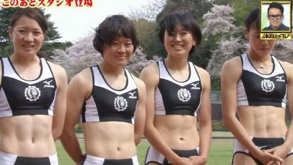 腹筋が美しい女子陸上選手 20