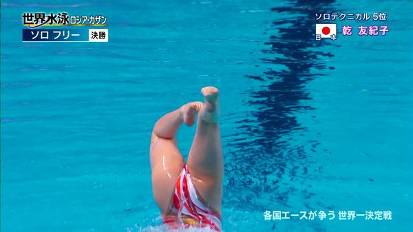 女子シンクロの大開脚の股間 13