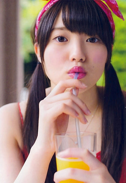 アイドル、女優のストロー咥え顔 7