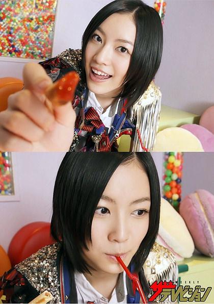アイドル、女優のストロー咥え顔 10