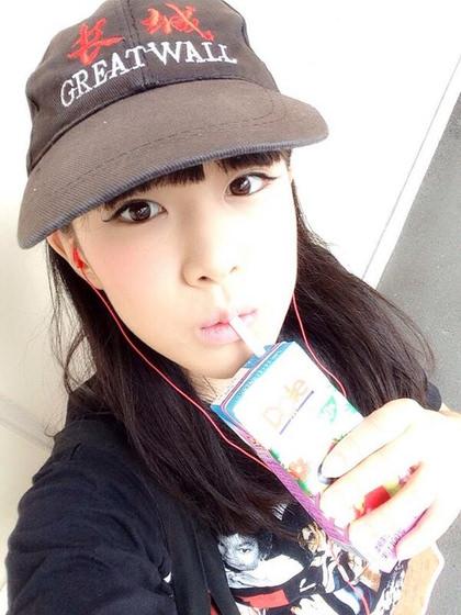 アイドル、女優のストロー咥え顔 15