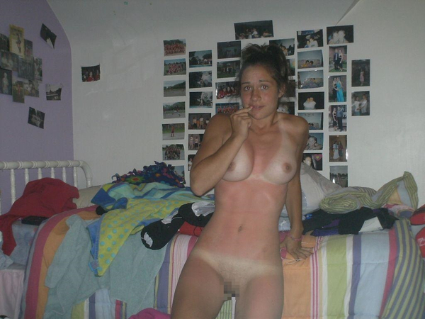 日焼け跡がクッキリの外国人素人 20