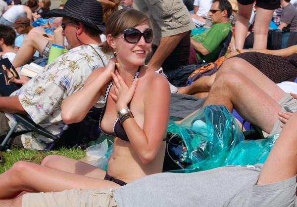美乳の外国人素人の水着姿 20