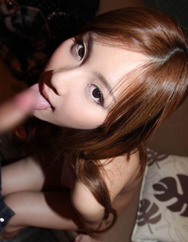 美少女のフェラ顔 6