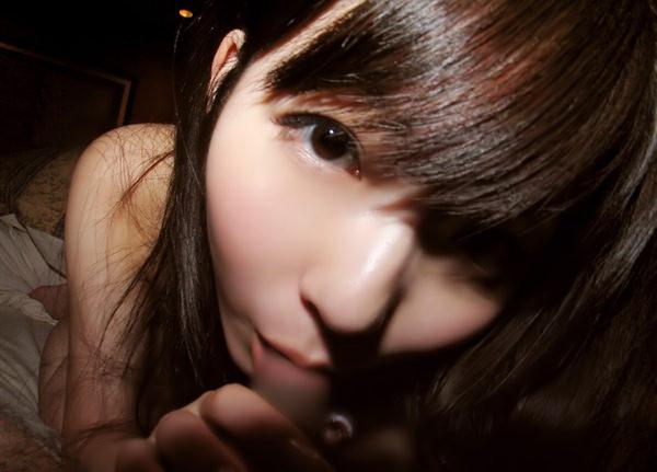 美少女のフェラ顔 8