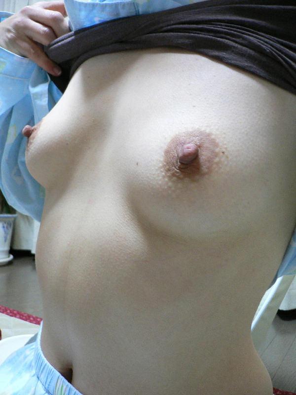 茶色い乳首の素人のおっぱい 18