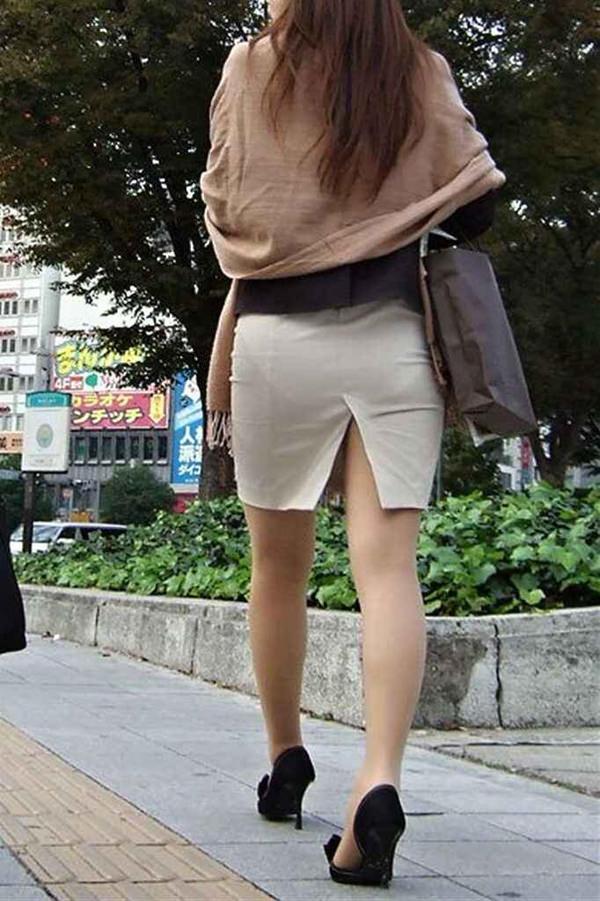 スリットスカートの素人の街撮り 9