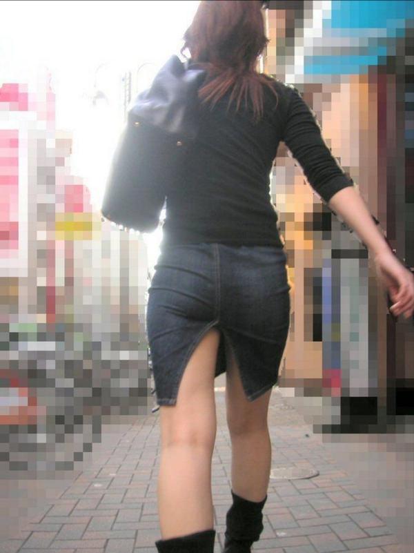 スリットスカートの素人の街撮り 11