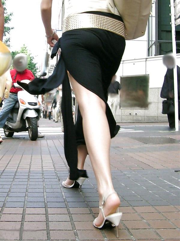 スリットスカートの素人の街撮り 27