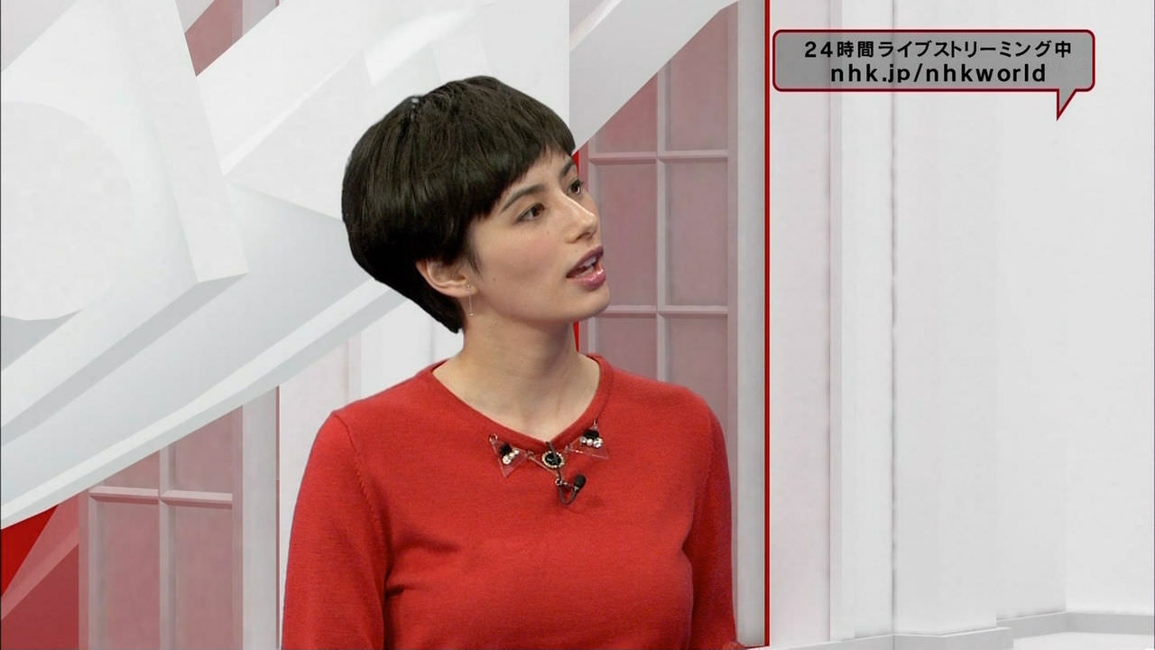 ホラン千秋の赤ニット着衣おっぱいがナイス!!