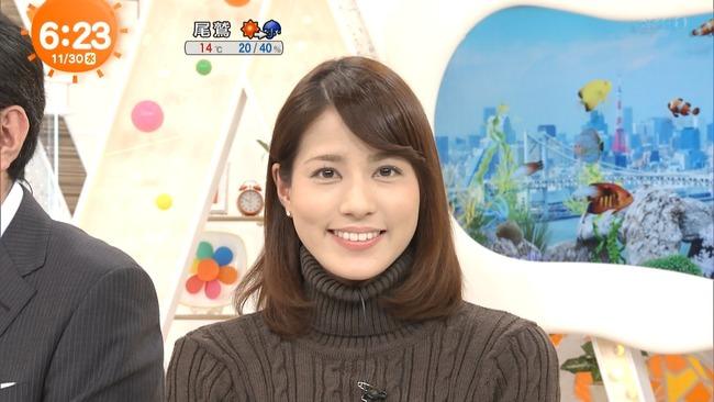 【画像】永島優美アナのおっぱいでセーターが盛り上がり過ぎいwwww