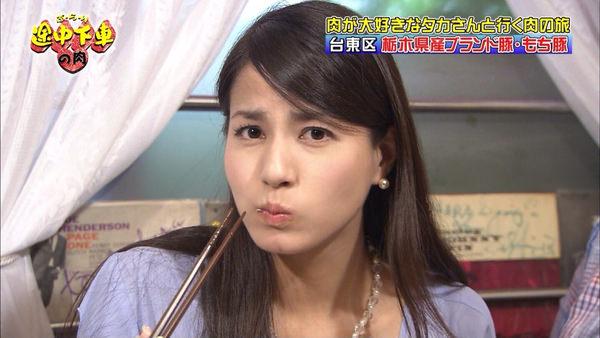 もち豚を食べる永島優美