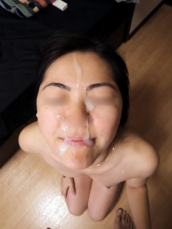素人の顔射 5