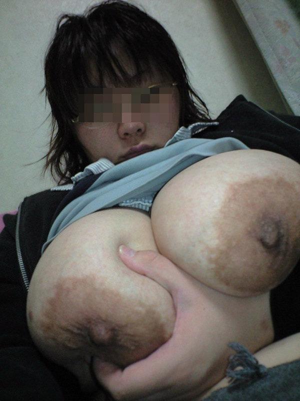 デカ乳輪でデカ乳首のグロパイ 17