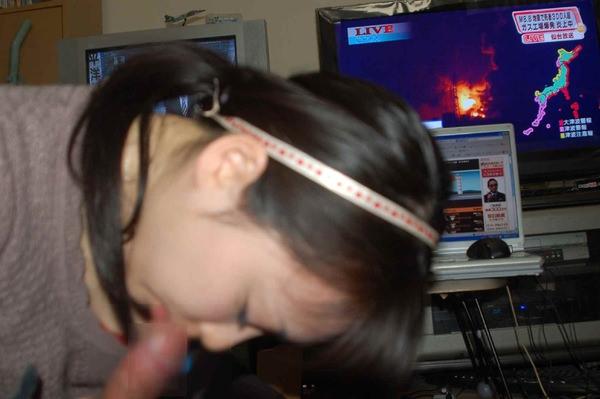 髪の毛結んでフェラする素人 5