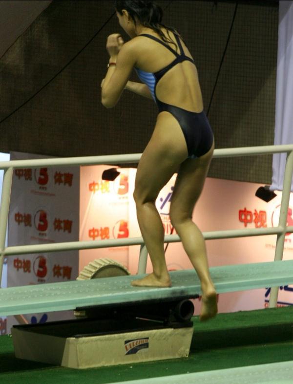競泳水着姿の素人のお尻 36